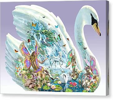 Swan Puzzle Canvas Print