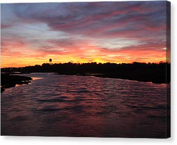 Swan River Sunset Canvas Print by Luke Moore