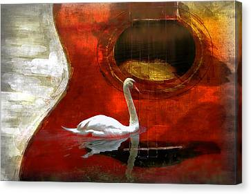 Swan Song Canvas Print by Wendy Mogul