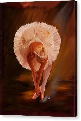 Swan Warming Up 1 Canvas Print