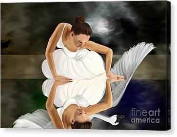 Swans Canvas Print by Sydne Archambault