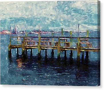 Swansboro Dock 1 Canvas Print by Lanjee Chee