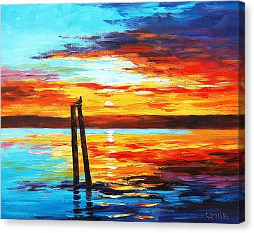 Swansea Sunset Canvas Print by Graham Gercken