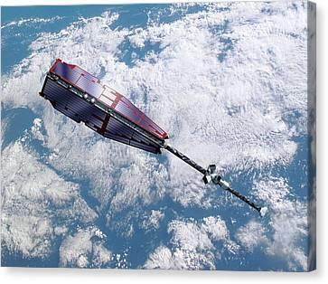 Swarm Satellite Canvas Print by P.carril/esa