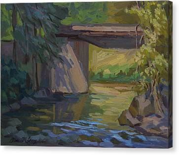 Swauk Creek Early Spring Canvas Print by Diane McClary