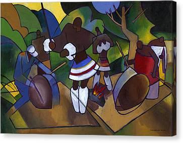 African Traditional Dances Canvas Print - Swazi Rhythm by Douglas Simonson