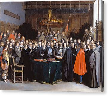 Swearing Of The Peace Of Munster Canvas Print