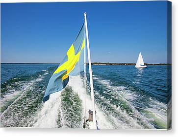 Sweden - Sailing In Stockholm Canvas Print by Panoramic Images