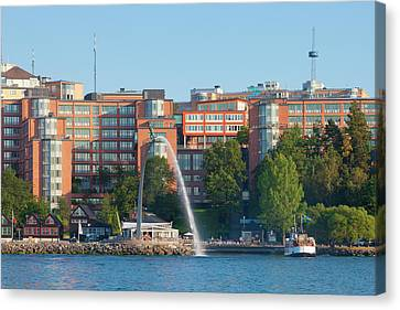 Sweden, Stockholm - Modern Offices Canvas Print by Panoramic Images