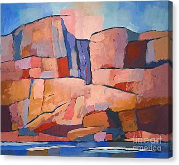 Swedish Cliffs Canvas Print by Lutz Baar