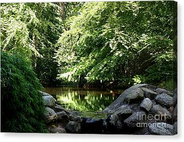 Swedish Forestlake Canvas Print by Susanne Baumann