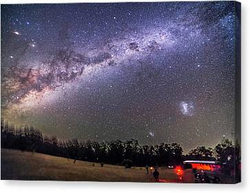 Observer Canvas Print - Sweep Of The Southern Milky Way by Alan Dyer