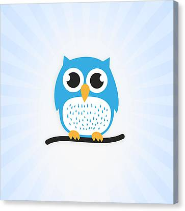 Sweet And Cute Owl Canvas Print