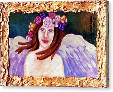 Flower Pink Fairy Child Canvas Print - Sweet Angel by Genevieve Esson