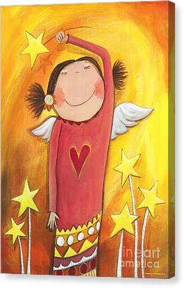 Sweet Angel Canvas Print by Sonja Mengkowski