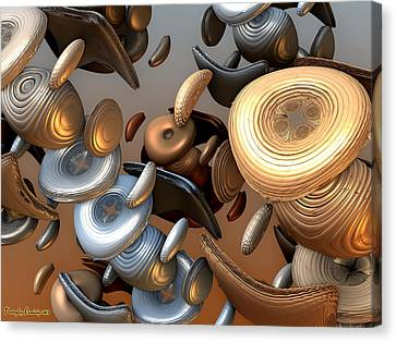 Sweet Buttons Of Your Dress. 2013 80/60 Cm.  Canvas Print by Tautvydas Davainis
