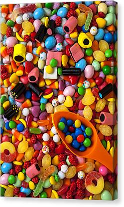 Sweet Candy With Scoop Canvas Print by Garry Gay