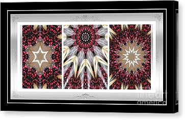 Sweet Cherry Supreme - Triptych - Dining Art Canvas Print by Barbara Griffin