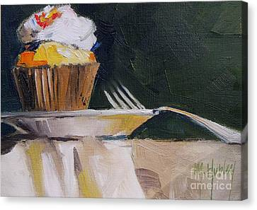 Sweet Cupcake Canvas Print by Mary Hubley