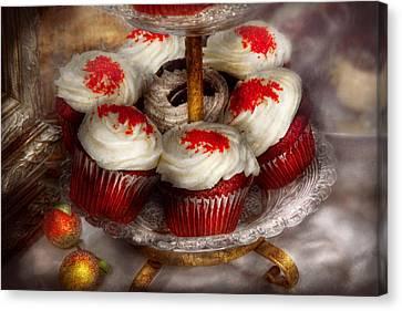 Sweet - Cupcake - Red Velvet Cupcakes  Canvas Print by Mike Savad