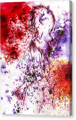 Sweet Death Kiss Canvas Print by Rokon Chan