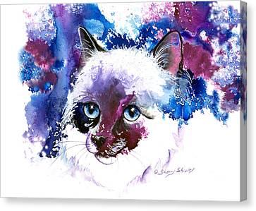 Feline Canvas Print - Sweet Deception by Sherry Shipley