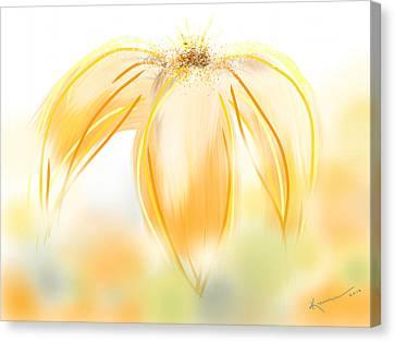 Foggy Day Digital Art Canvas Print - Sweet Dreams 3 by Kume Bryant