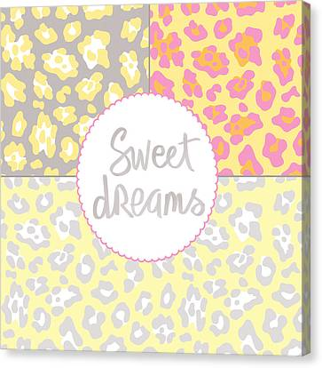 Sweet Dreams - Animal Print Canvas Print