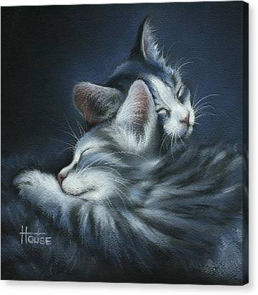 Canvas Print featuring the drawing Sweet Dreams by Cynthia House