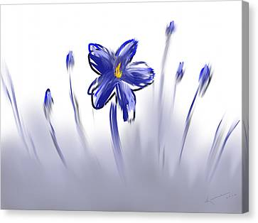 Foggy Day Digital Art Canvas Print - Sweet Dreams by Kume Bryant
