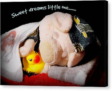 Sweet Dreams Little One Canvas Print by Piggy