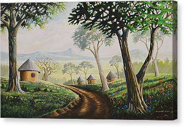 Canvas Print featuring the painting Sweet Home by Anthony Mwangi
