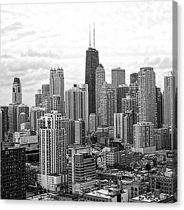 Sweet Home Chicago Bw Canvas Print