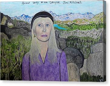 Canvas Print featuring the painting Sweet Lady Of The Canyon. by Ken Zabel