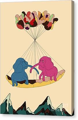 Snack Canvas Print - Sweet Love by Eun-Hye Yoon