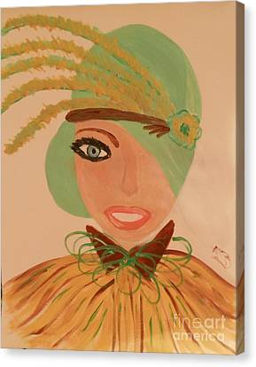 Sweet Mary Of The Sun Canvas Print by Marie Bulger