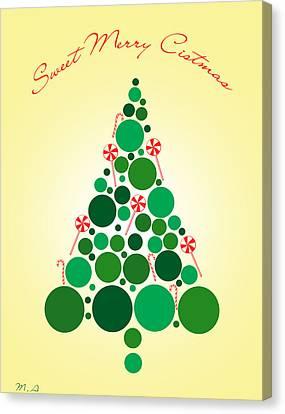 Sweet Merry Christmas Canvas Print by Mark Ashkenazi