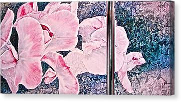 Sweet Peas Canvas Print by Carolyn Rosenberger