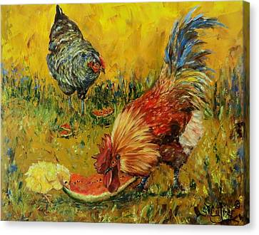 Sweet Pickins, Chickens Canvas Print