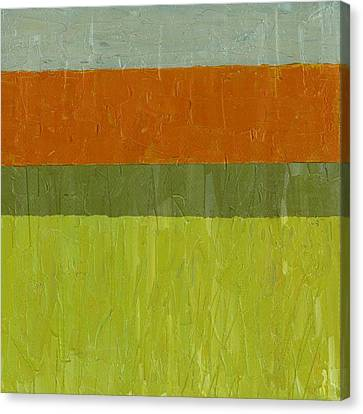 Sweet Potato And Pea Green Canvas Print by Michelle Calkins