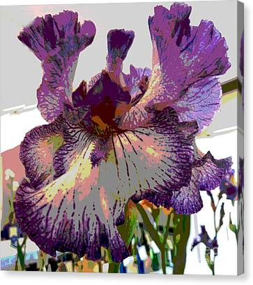 Canvas Print featuring the photograph Sweet Purple by Sally Simon