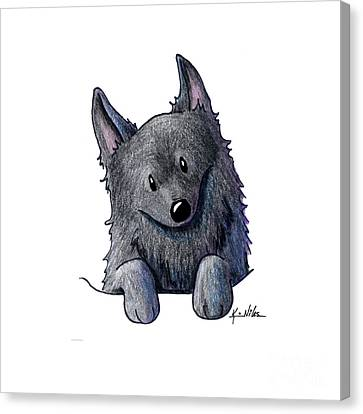 Sweet Schipperke Canvas Print by Kim Niles