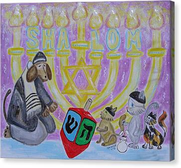 Sweet Shalom Canvas Print by Diane Pape