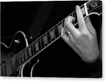 Canvas Print featuring the photograph Sweet Sounds In Black And White by John Stuart Webbstock