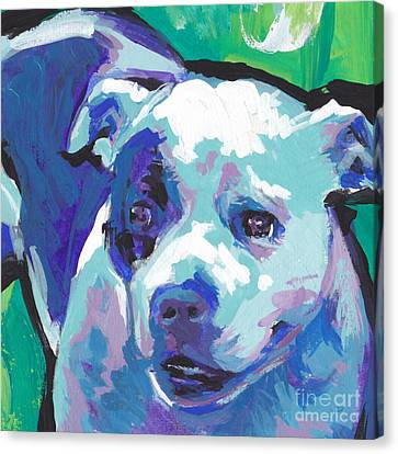 Staffordshire Bull Terrier Canvas Print - Sweet Staffy by Lea S