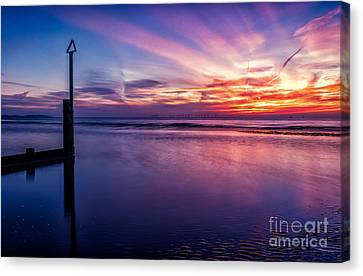 Sweet Sunset Canvas Print by Adrian Evans