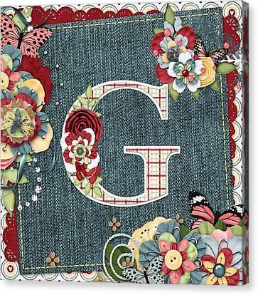 Sweet Surprises Monogram Letter  G Canvas Print