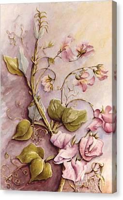 Sweet Sweet Pea Canvas Print by Marta Styk