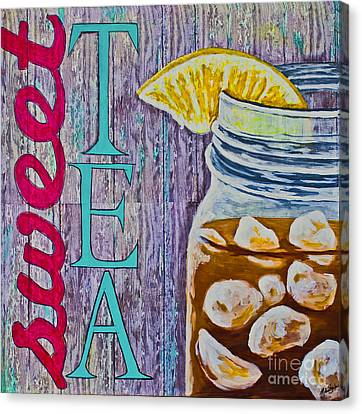 Canvas Print featuring the mixed media Sweet Tea by Melissa Sherbon