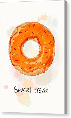 Sweet Treat Orange Canvas Print by Jane Rix